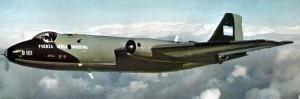 B-101 volando en Inglaterra
