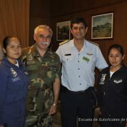 Visita a la ESFA del Director del Instituto de Educación Tecnológico Aeronáutico de la F.A.P. (ESOFA)
