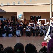 Participación De La Banda Militar De Música Suboficial Mayor Juan Vulcano En Acto De Promesa A La Bandera En El Instituto Nuestra Señora De Las Mercedes En Unquillo